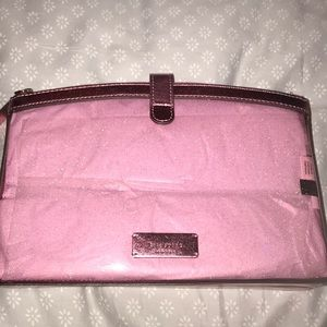 Pink sparkle Kate spade cosmetic bag